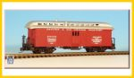 ASP-30074-RTR DRGW Baggage Car Red Nn3 Brass