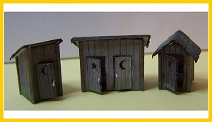 2010 Outhouses (3 pack)
