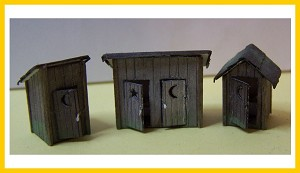 4010 Outhouses (3 pack)