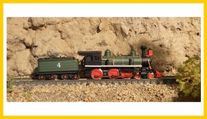ASP-30031-RTR Old Time 4-6-0 Green Z Brass