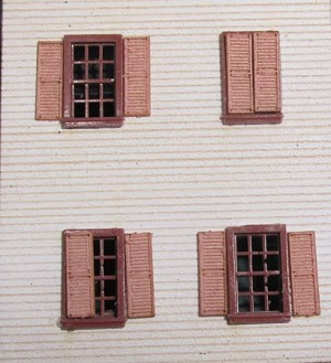 Window Shutters for the N scale Tichy 2508 6/6 windowsew Product - Please enter name here