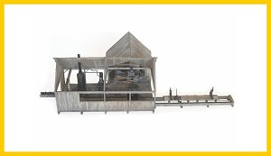 KMP-S-SM Steam Powered Sawmill with Planer